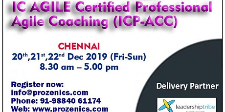 ICAgile Certified Professional Agile Coaching Certification tickets