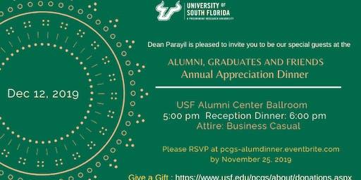 Alumni, Graduates, and Friends Annual Appreciation Dinner