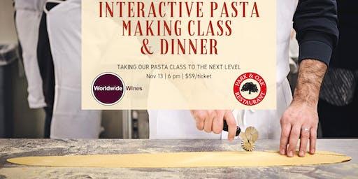Interactive Pasta Making Class & Dinner