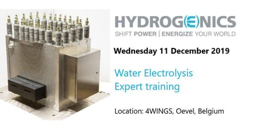 Hydrogenics' Water Electrolysis Expert training