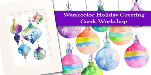 """Watercolor Holiday Cards including 8x10"""" Matted Original #2- Spencer"""