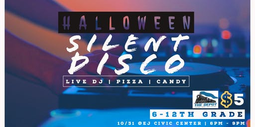 Halloween Silent Disco @ the Depot! GRADES 6-12th