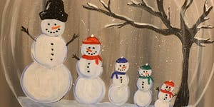 MARTIN'S WINE & PAINT PARTY - FAMILY SNOW GLOBE