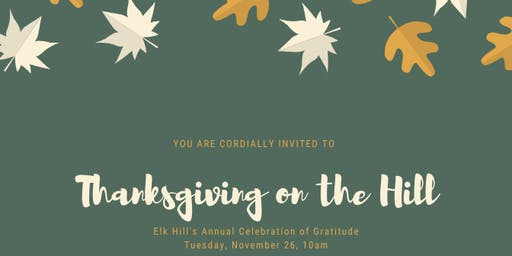 Thanksgiving on the Hill