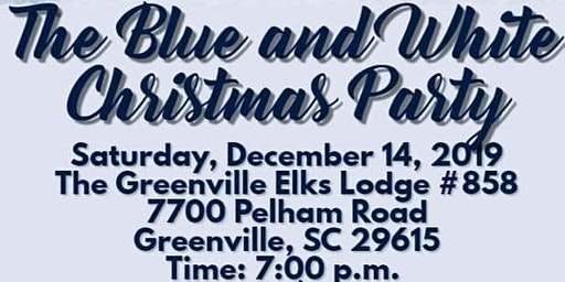 The Blue and White Christmas Party
