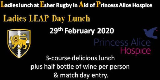 Ladies LEAP Day Lunch at Esher Rugby Club in Aid of Princess Alice Hospice