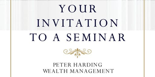 Peter Harding Wealth Management Pension & Tax Planning Evening Seminar