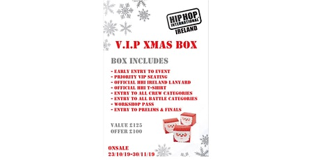 Hip Hop International Ireland Xmas Box 2020 tickets