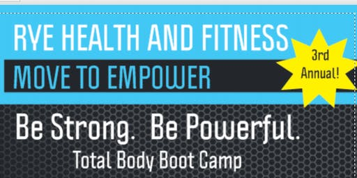 Be Strong Be Powerful Boot Camp - Sunday, 11/24