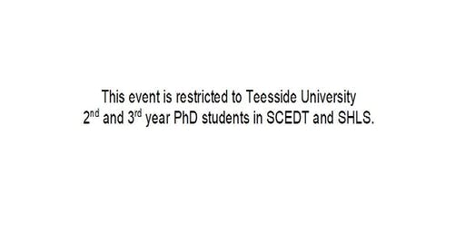 Writing Retreat for Teesside University 2nd & 3rd Year PhD Students