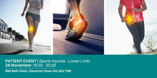 FREE Patient Information Event | Sports  Injuries - Lower Limb