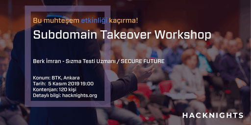 Subdomain Takeover Workshop | hacknights.org