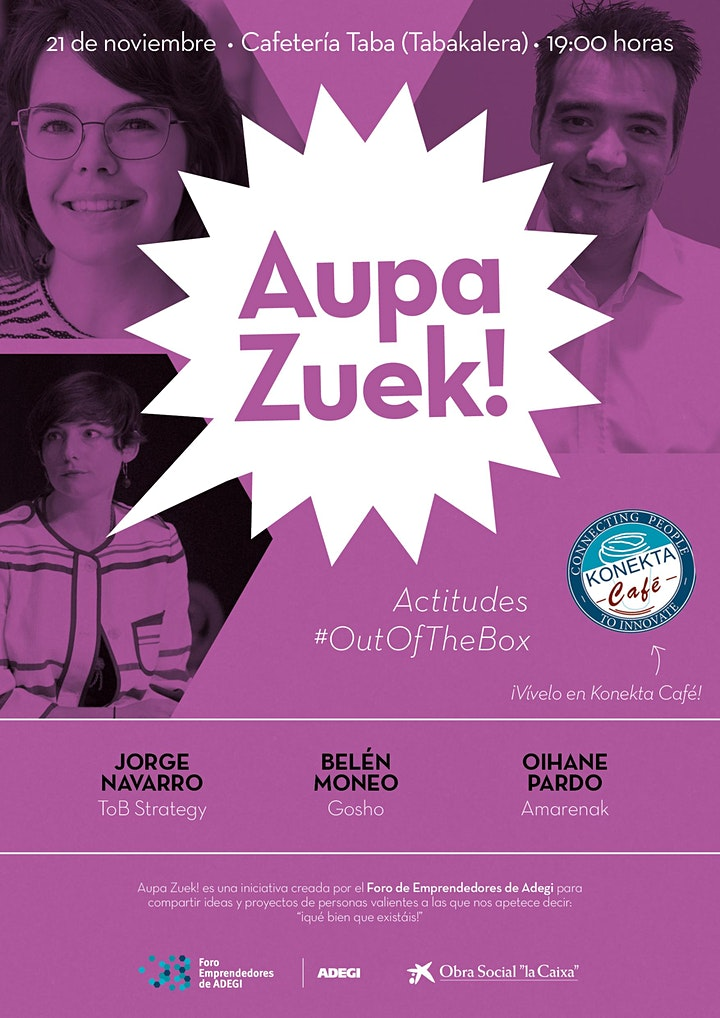 Imagen de 15º Encuentro #AupaZuek: Actitudes #OutOfTheBox