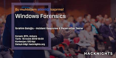 Windows Forensics | hacknights.org tickets