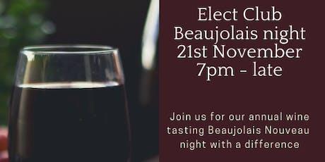 Singles Beaujolais Nouveau Wine tasting soiree tickets