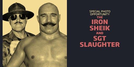 Iron Sheik/Sgt Slaughter Meet and Greet Combo/WrestleCade Weekend 2019
