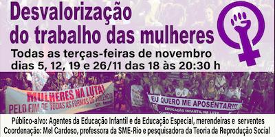 CURSO A  DESVALORIZAÇÃO DO TRABALHO DAS MULHERES