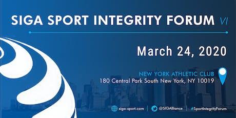 SIGA Sport Integrity Forum VI - New York City tickets