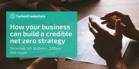 How your business can build a credible net zero strategy tickets