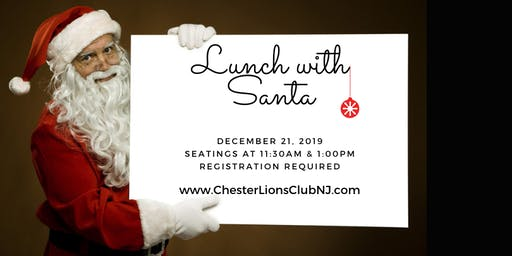 Chester Lions Club Lunch with Santa - Seatings at 11:30am and 1:00pm