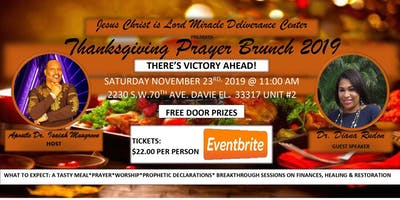 "Thanksgiving Prayer Brunch 2019. ""There's Victory Ahead!"""