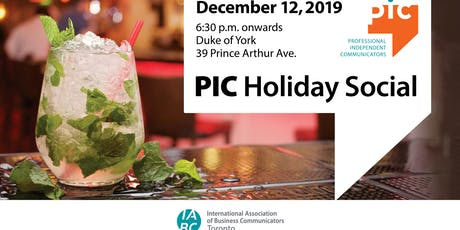 PIC Holiday Social tickets
