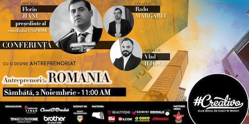Antreprenori in ROMANIA - Cu si despre ANTREPRENORIAT - CREATIVO 2019