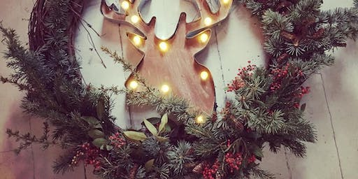 Crafting Night: Modern Grapevine and Evergreen Wreaths