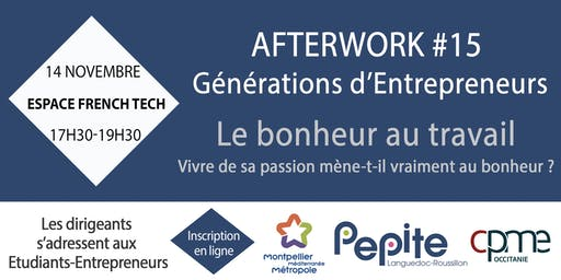 Bonheur - Afterwork #15 Générations d'Entrepreneurs