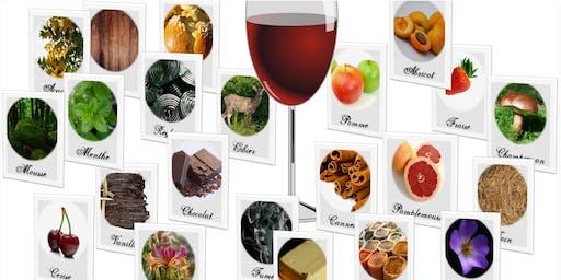 """Copie de Cours d'oenologie : """"Les arômes du vin"""" (20 € / participant)"""
