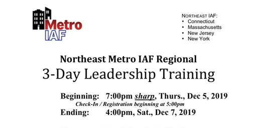 Metro IAF NE Regional 3-Day Training
