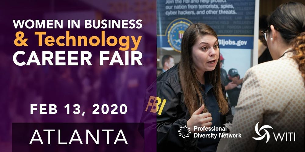 Career Fair Near Me 2020.Women In Business Technology Career Fair Tickets Thu Feb