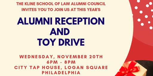 Kline School of Law Alumni Reception and Toy Drive