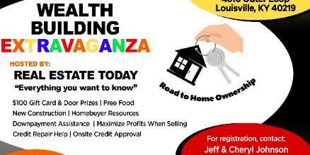 Wealth Building Extravaganza November 2nd 11 am to 1pm. Networking @ 1 pm
