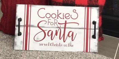 Create your own cookie tray for Santa