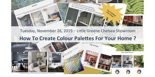 "Refresh Yrslf - Lifestyle ""How to create colour palettes for your home?""  by Interior Designer Evren Aras - WORKSHOP"