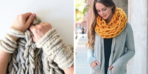 Winter Season: Arm Knitting Snoods