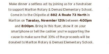 Marlton Rotary Fundraiser for DeMasi Elementary New Playground Equipment