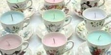 Winter Season: Tea Cup Candles