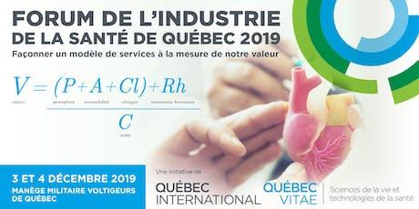 13e Forum de l'industrie de la santé de Québec (FISQ) billets