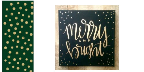 After Hours at the Library: Christmas Canvas