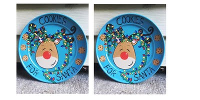 Rudolph Plate Painting Class for Adults at Dory's