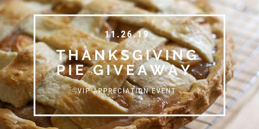 Thanksgiving pie giveaway!