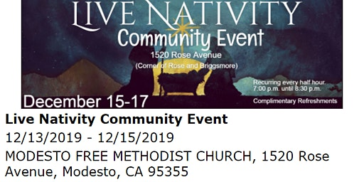 Live Nativity Community Event
