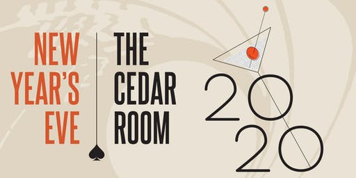 New Year's Eve at The Cedar Room