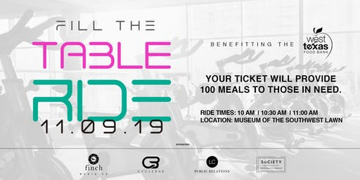 Fill The Table Ride- 10 AM Ride