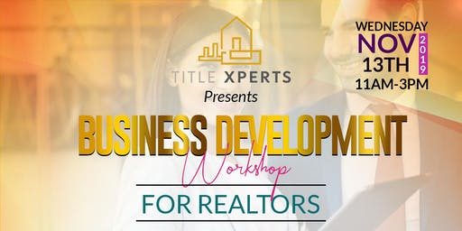 Business Development Workshop for Realtors