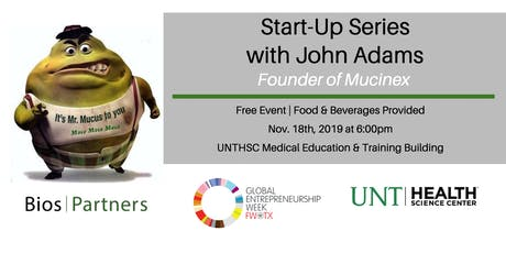 Start-Up Series with John Adams of Mucinex tickets