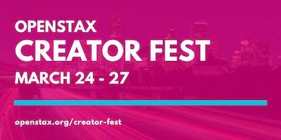 OpenStax Creator Fest 2020