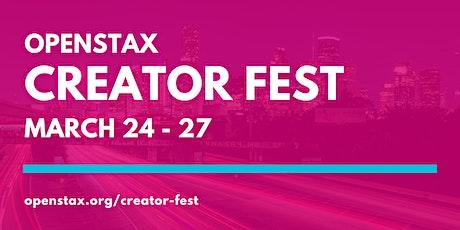 OpenStax Creator Fest 2020 tickets